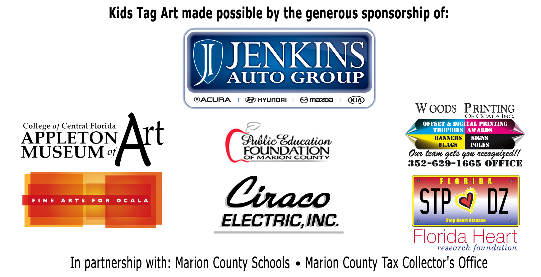 Kids Tag Art Sponsors